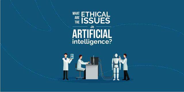 Modèle de visuel Ethical issues in artificial intelligence illustration - Twitter