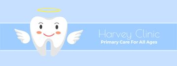 Dental clinic Cartoon tooth angel