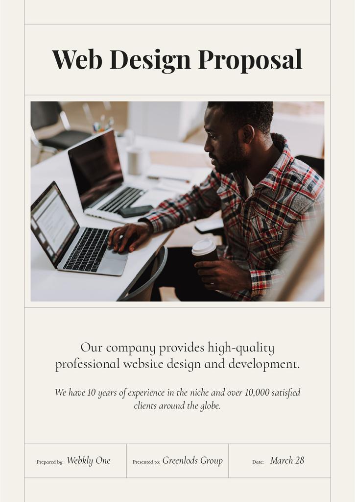 Web Design studio services Proposal – шаблон для дизайну