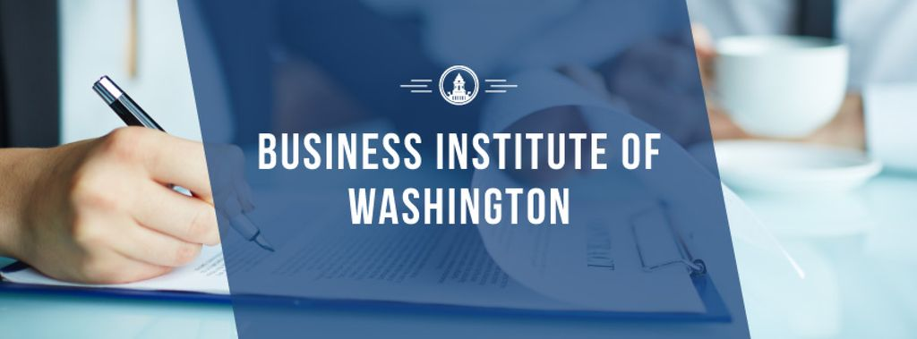 Business institute of Washington poster — Crear un diseño