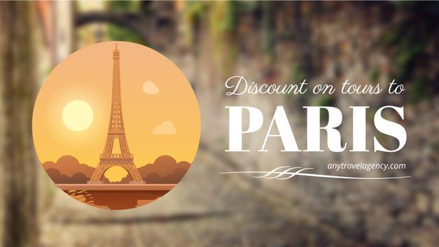 Plantilla de diseño de Tour Invitation with Paris Eiffel Tower Full HD video