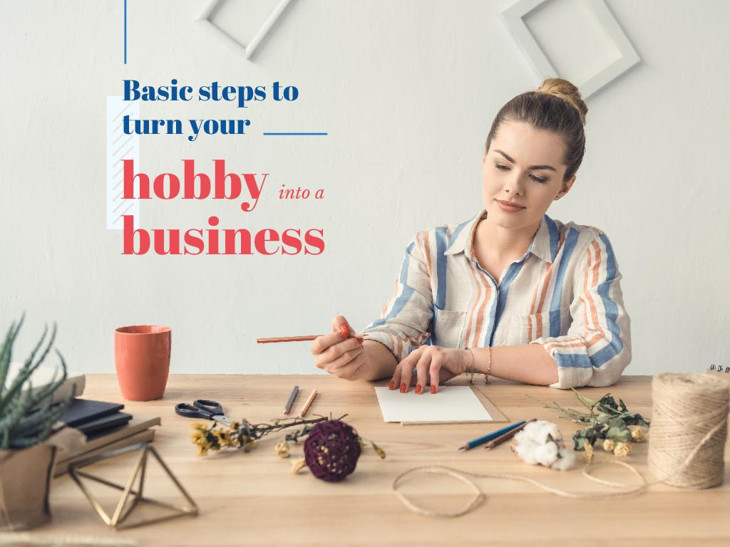 Basic steps to turn hobby into a business — Создать дизайн