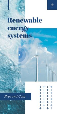 Plantilla de diseño de Wind turbines farm for Renewable Energy Graphic