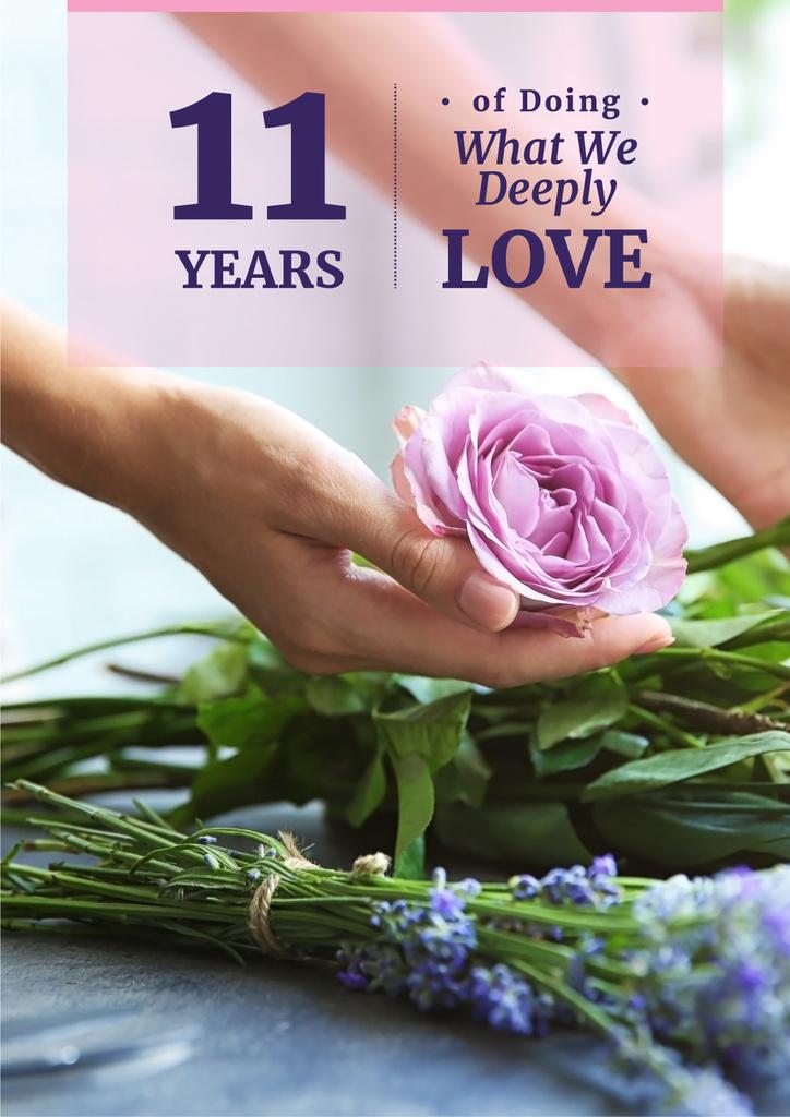 Birthday card of florist company — Create a Design