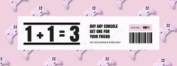 Console Discount on Pink