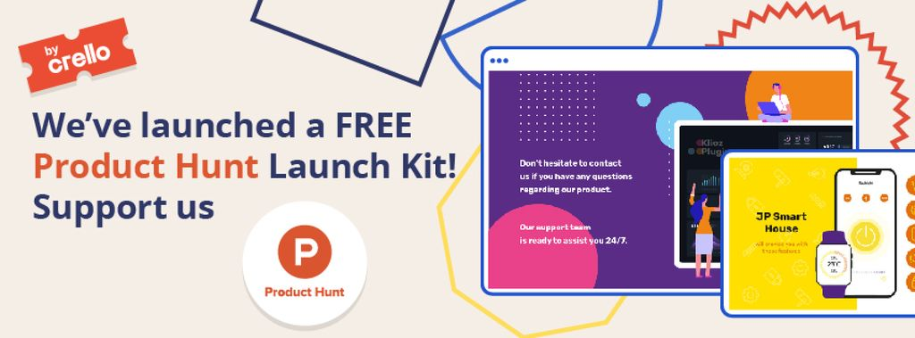 Product Hunt Launch Kit Offer Digital Devices Screen — Создать дизайн
