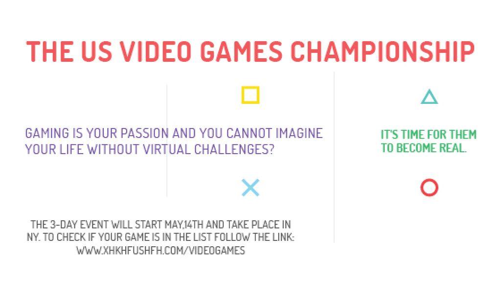 Video Games Championship announcement — Modelo de projeto