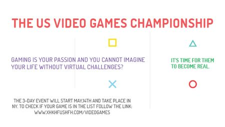 Ontwerpsjabloon van Title van Video Games Championship announcement
