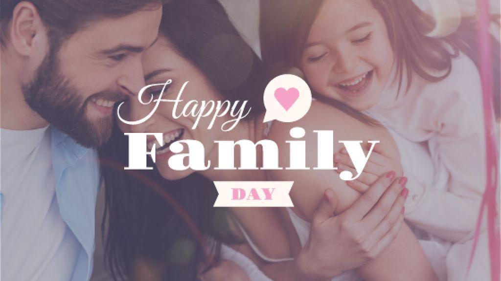 happy family day poster — Créer un visuel