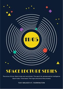 Space lecture series announcement