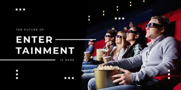 People watching cinema in 3D