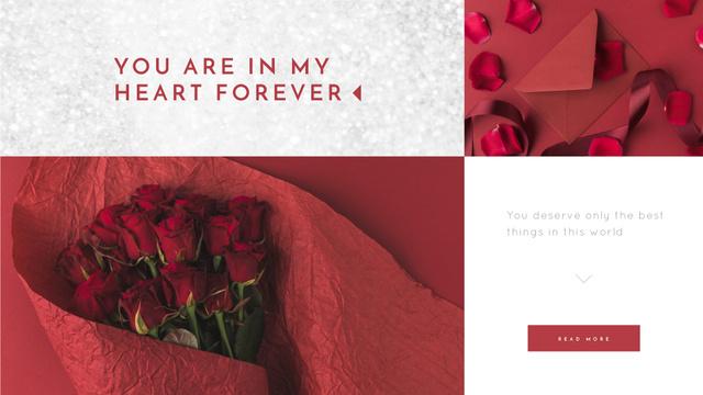 Ontwerpsjabloon van Full HD video van Valentine's Day Bouquet and Envelope