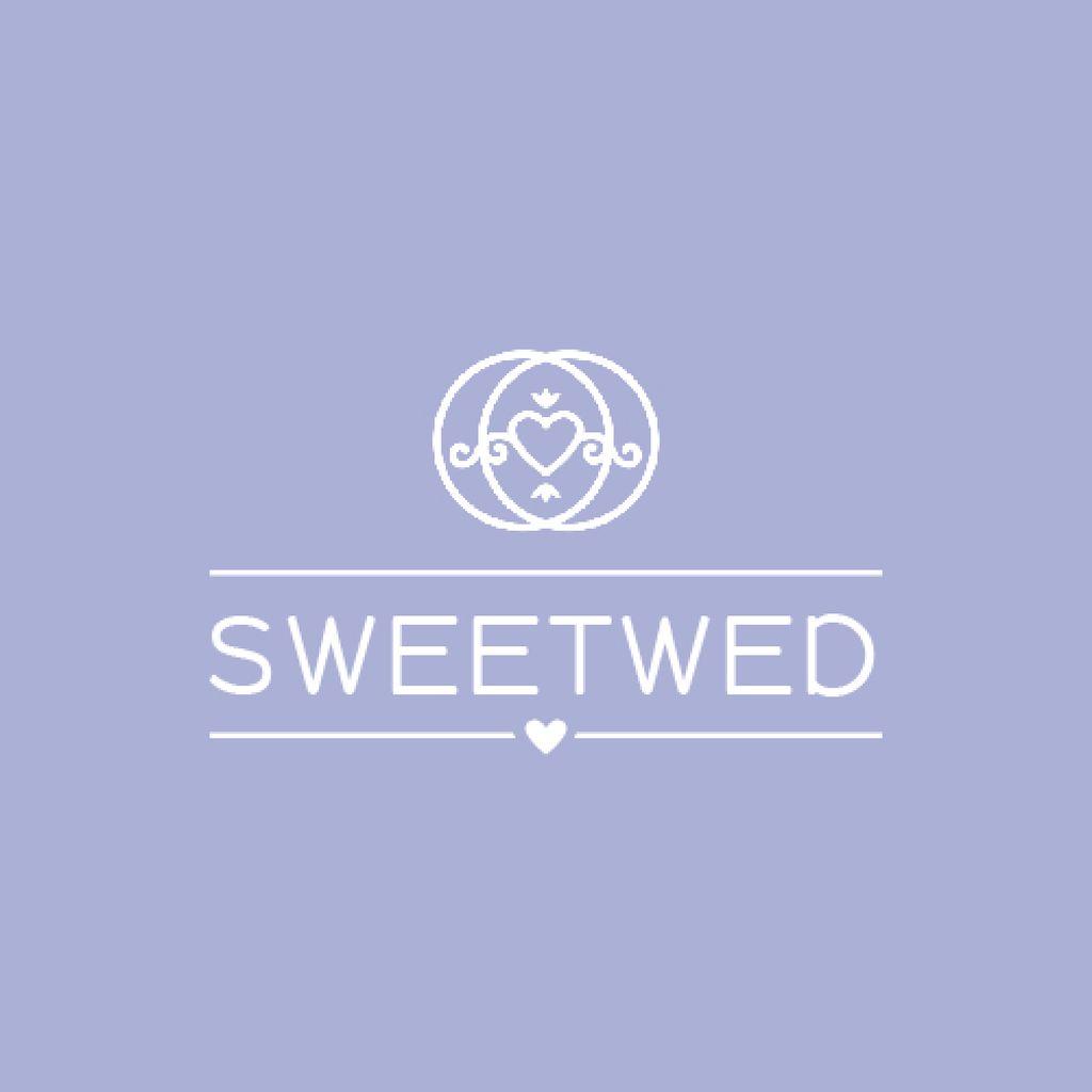 Wedding Agency Ad Heart in Rings — Modelo de projeto