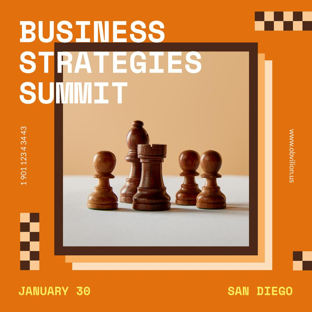 Business Strategy Conference Chess Figures — Створити дизайн