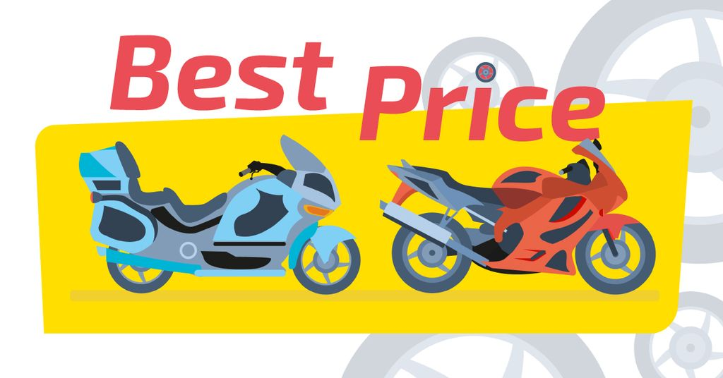 Sale Offer Pair of Sport Motorcycles | Facebook Ad Template — Crear un diseño