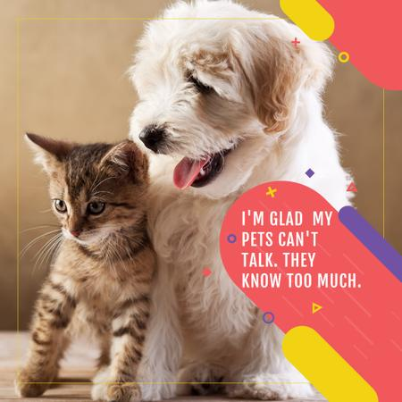 Modèle de visuel Citation about not talking pets  - Instagram