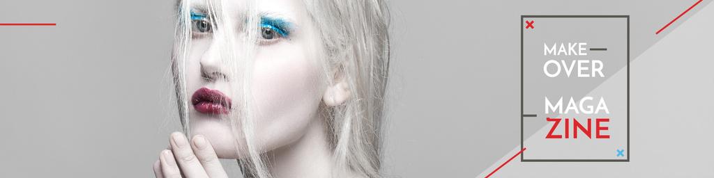 Makeover magazine poster — Modelo de projeto