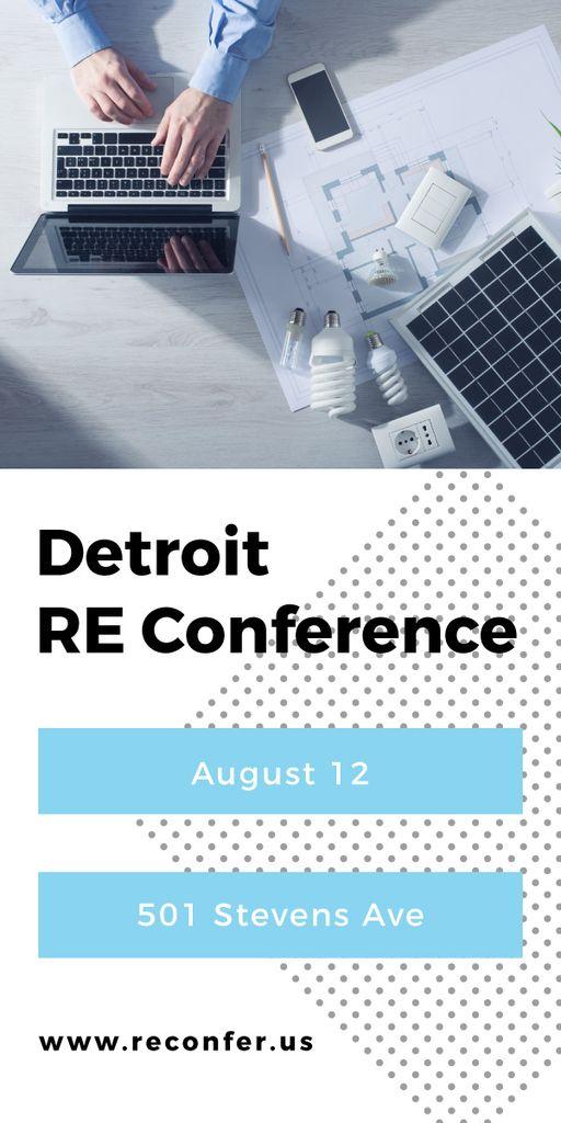 RE conference banner — Maak een ontwerp