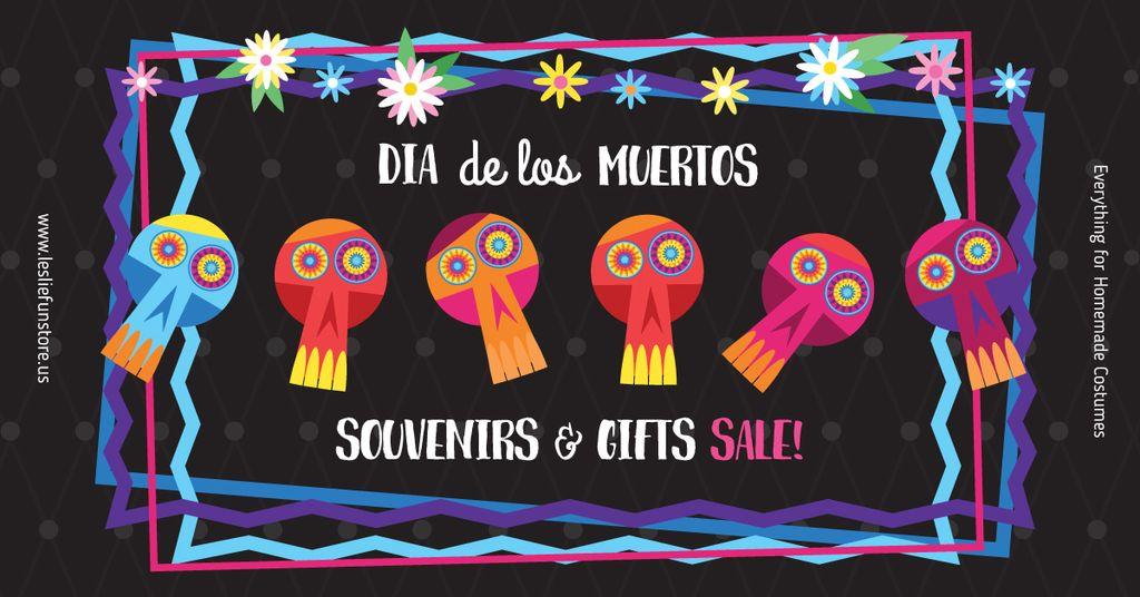 Dia de los muertos Sale Ad — Maak een ontwerp