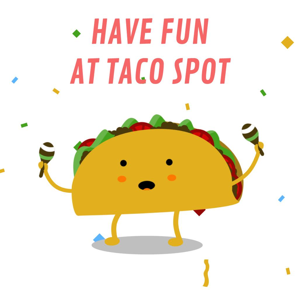 Dancing Taco With Maracas — Create a Design