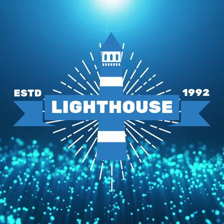 Template di design Light House with Glowing waving bubbles Animated Post