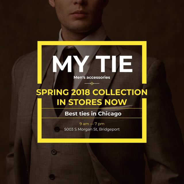 Template di design Handsome Man wearing Suit and Tie Instagram AD