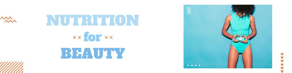 Nutrition for beauty Ad Twitter – шаблон для дизайну