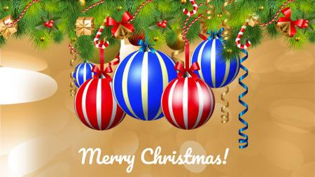 Template di design Christmas Greeting Spinning Baubles on a Tree Full HD video
