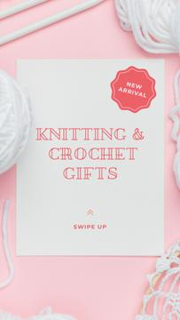 Knitting and Crochet Store in White and Pink