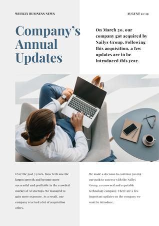 Company Annual Updates Newsletter Modelo de Design
