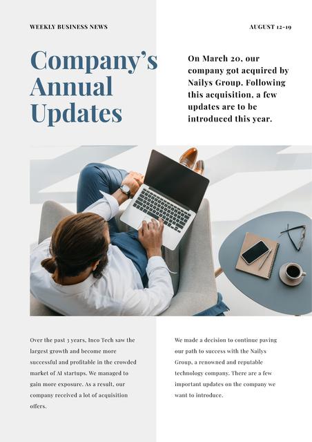 Company Annual Updates Newsletter Modelo de Design