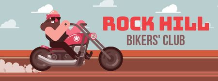 Modèle de visuel Biker riding his motorcycle - Facebook Video cover