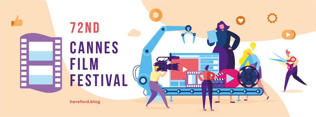Cannes Film Festival Facebook cover Tasarım Şablonu