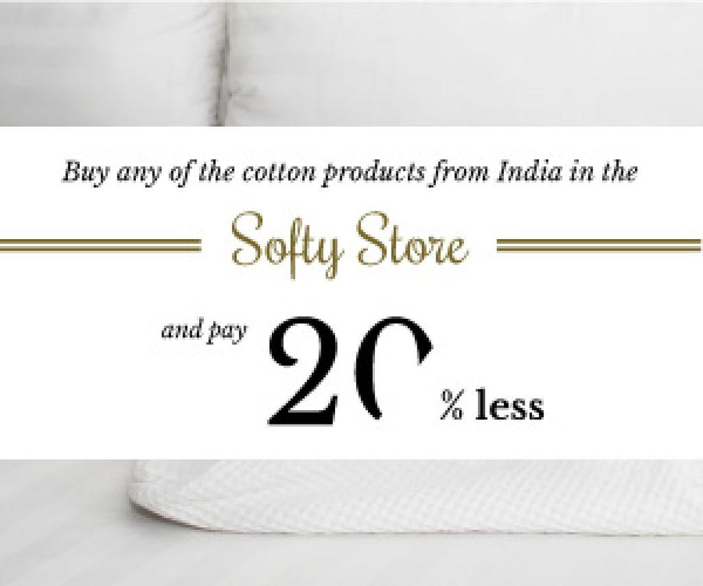 Ontwerpsjabloon van Medium Rectangle van Cotton products sale advertisement