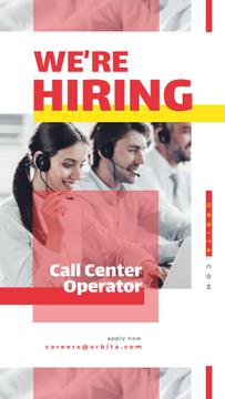 People working at call center