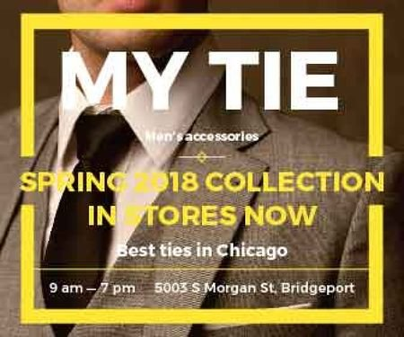My tie store in Chicago Large Rectangle Modelo de Design
