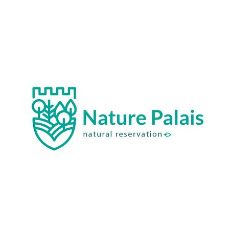 Template di design Natural Reservation Forest and Mountains Logo
