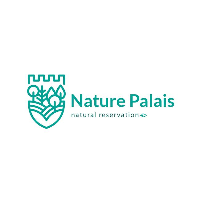 Natural Reservation Forest and Mountains Logo Design Template