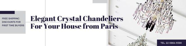 Plantilla de diseño de Elegant crystal chandeliers from Paris Twitter