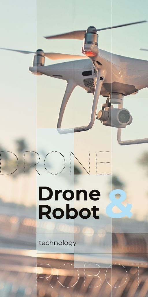 Drone flying in sky — Создать дизайн