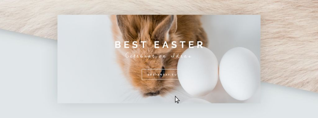 Cute bunny with Easter eggs — Create a Design