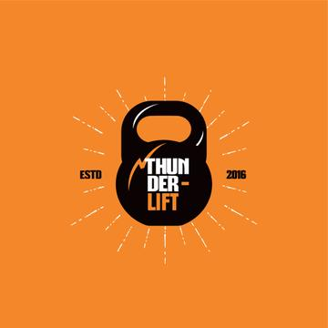 Sport Club Ad Kettlebell Icon | Logo Template