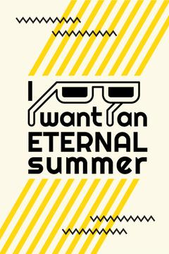 Eternal summer graphic poster