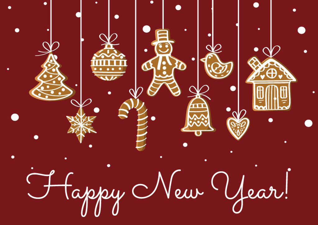 Happy New Year card with Holiday's Gifts — Створити дизайн