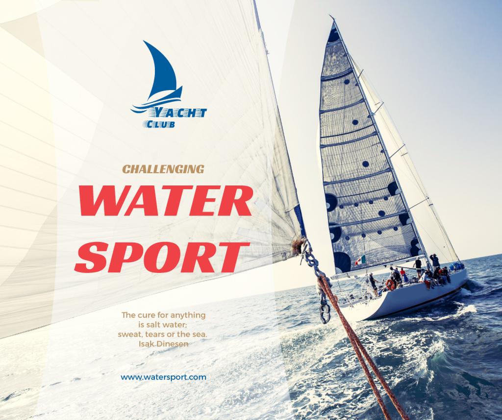 Water sport club poster — Maak een ontwerp