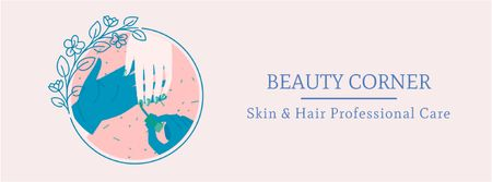 Plantilla de diseño de Professional beauty care Facebook Video cover