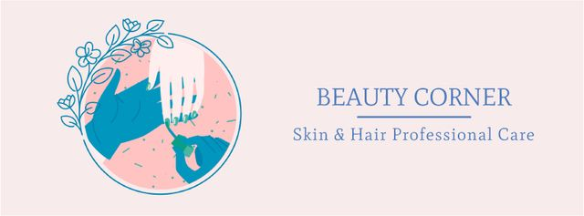 Template di design Professional beauty care Facebook Video cover