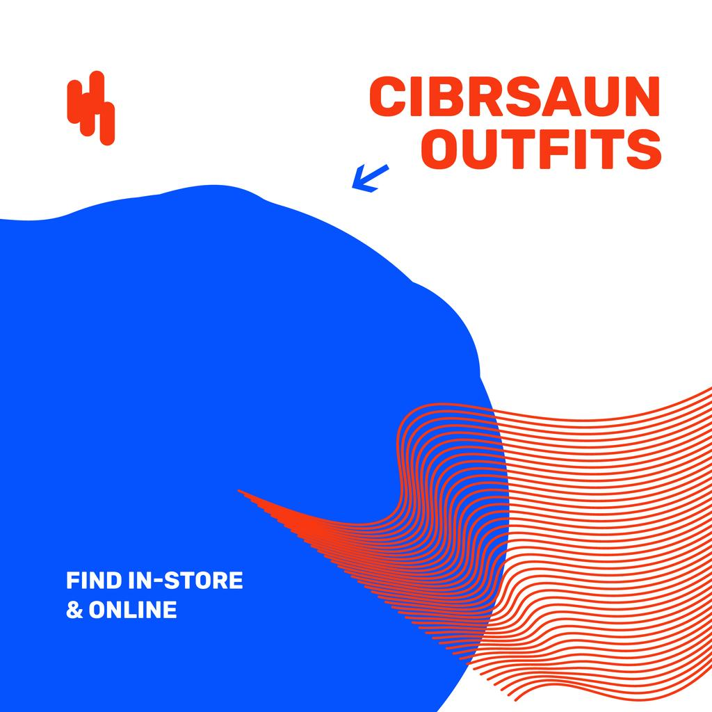 Fashion Store Ad on digital Textures — Create a Design