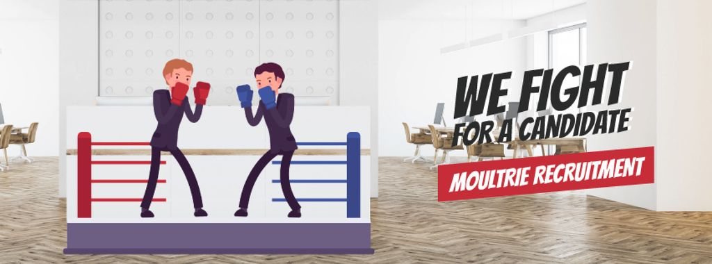 Two businessmen boxing on ring — Modelo de projeto