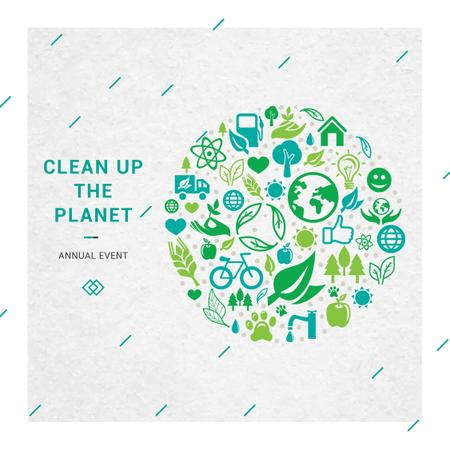 Clean up the Planet Annual event Instagram AD Modelo de Design